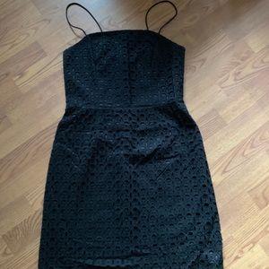 Banana Republic black spaghetti strap dress